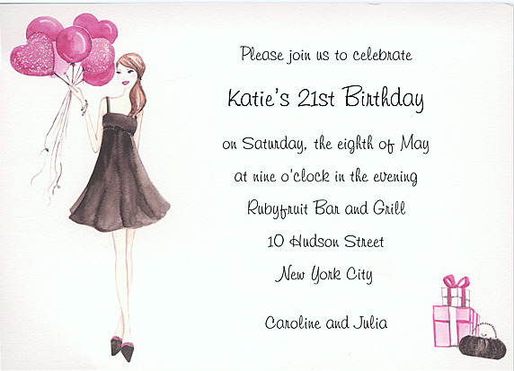 21st Birthday Party Ideas 21st Birthday Invitations