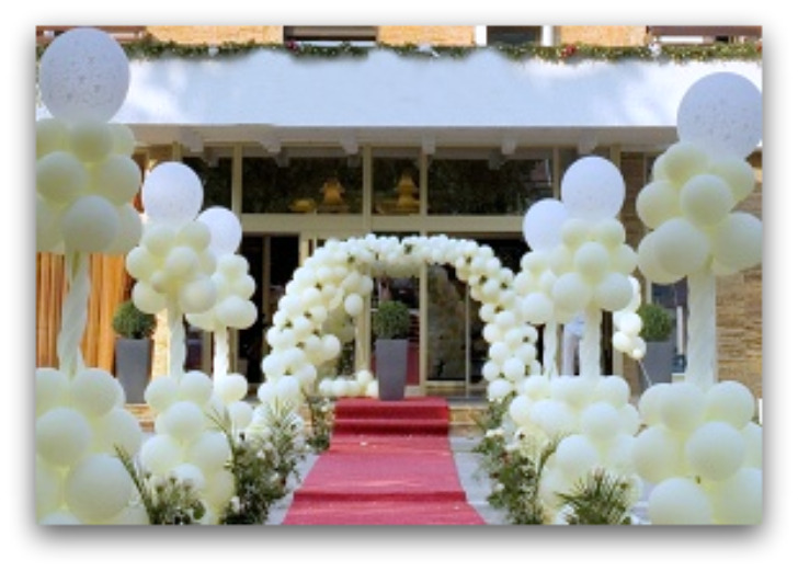 Helium balloons decoration ideas party favors ideas for Balloon decoration ideas for weddings