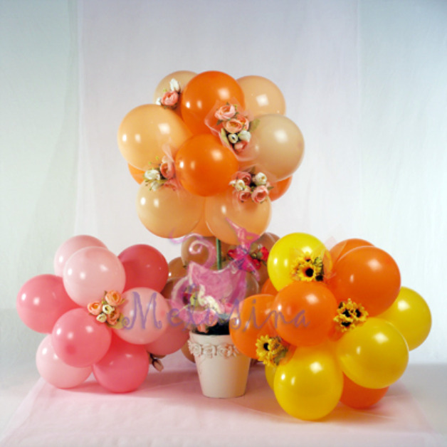St birthday balloon centerpieces