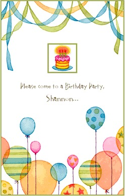 Birthday Party Invitation Templates Free on Free Printable Birthday Invitations A Little Creativity  A Color