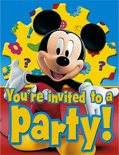 Mickey Mouse Birthday - Mickey Mouse Birthday Invitations