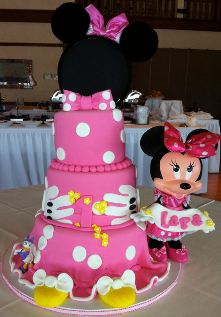 Here are some videos and ideas for a minnie mouse birthday cake.