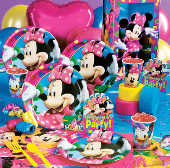 Baby Birthday Party Ideas on Minnie Mouse Party Supplies Just Like Mickey Minnie Mouse Is