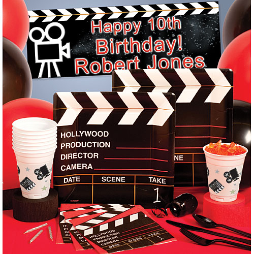 theme birthday party lights camera movie theme birthday party action