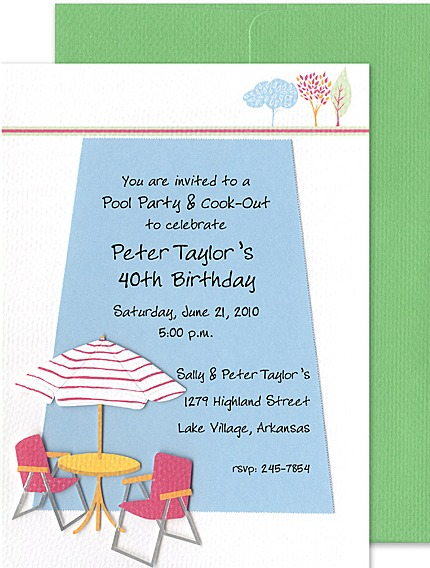 60th birthday pool party invitations. retirement invitations wording