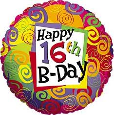 16th birthday party balloon ideas