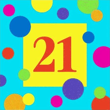 21st birthday party napkin