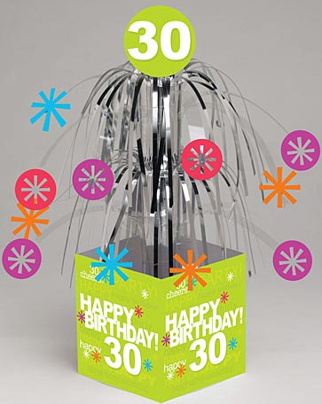 30th birthday party ideas centerpiece
