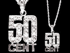 hip hop parties 50 cent necklace