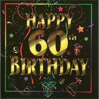 60th birthday party napkin