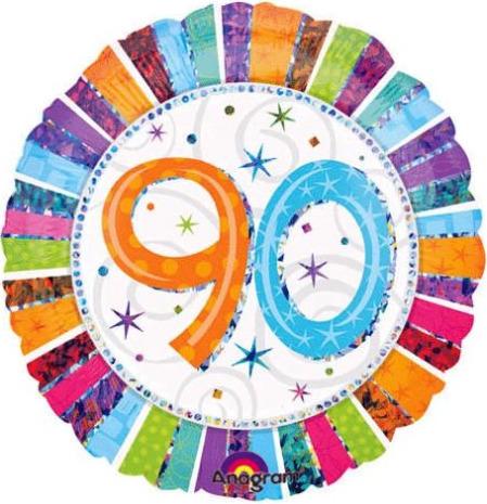 90th birthday party balloon