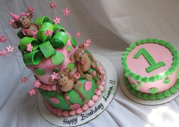animal themes birthday cakes