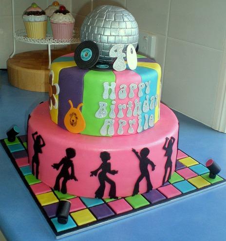 decade themes birthday cakes