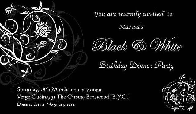 Black and White Party Black and White Cakes – Black and White Party Invites