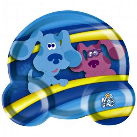 blues clues plate
