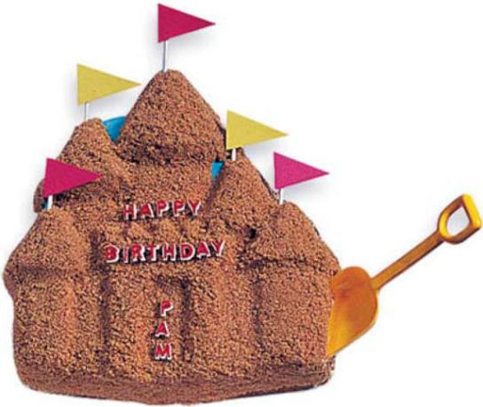cake sandcastle