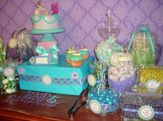 candy party buffet