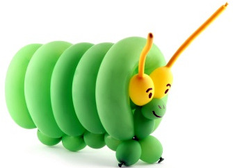 caterpillar balloon animal