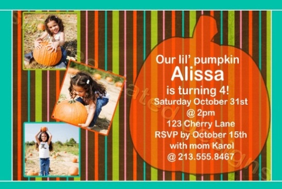 Halloween Birthday Invitations