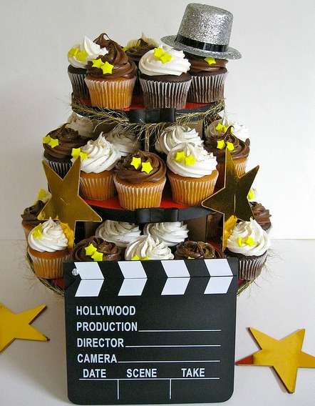hollywood party cupcakes