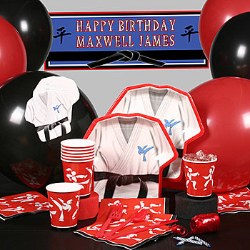 Karate Birthday Party Karate Birthday Karate Party Supplies Stunning Boxing Party Decorations