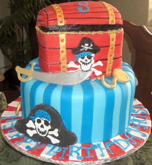 pirate party birthday cake