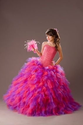 Quinceanera Feathers Dresses