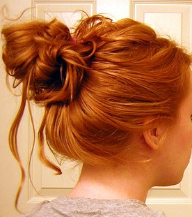 Quinceanera Messy Bun Hairstyles