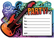 rock star invitation