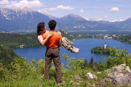 Romantic Couple Mountains