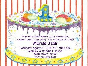 1st invitation cake