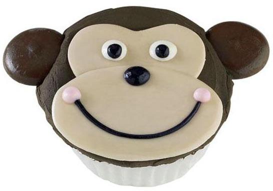 1st monkey cupcake