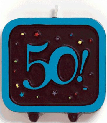 50th birthday party candle