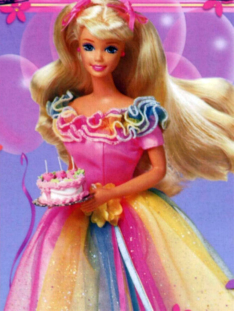 barbie with cake