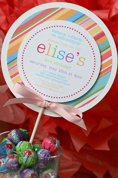 candy party invitations