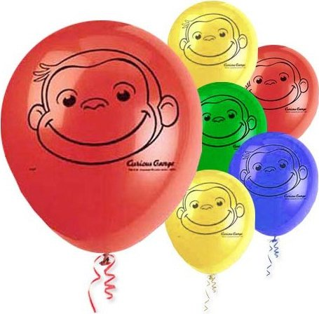curious george party balloons