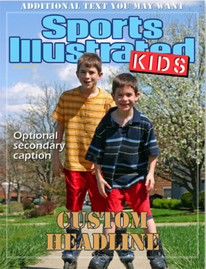 fake sports kids magazine cover