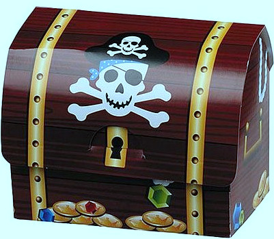 pirate chest favor