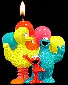Sesame Street Candle
